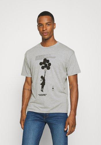 BANKSY HOPE - T-shirt con stampa - grey marl