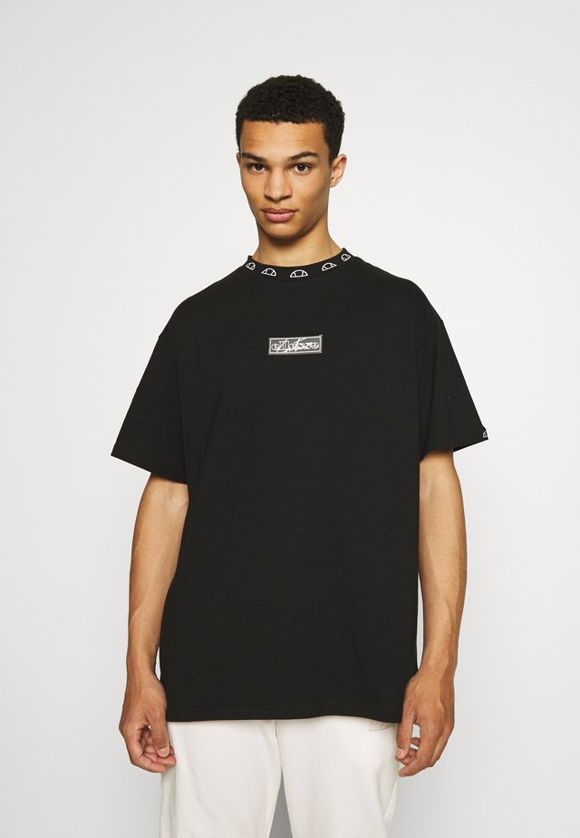 TCC X ELLESSE MENS RELAXED FIT WITH TOWELLING BAD - T-shirt con stampa - black