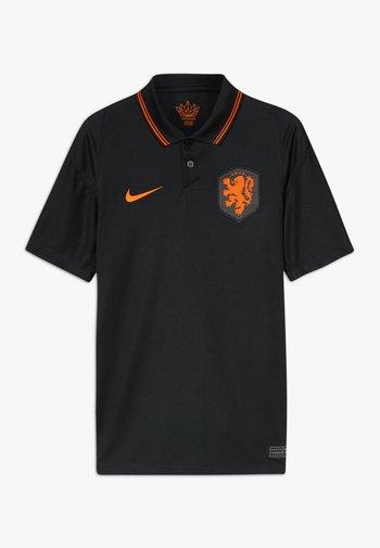 NIEDERLANDE KNVB Y NK BRT STAD SS AW - Klubové oblečení - black/safety orange
