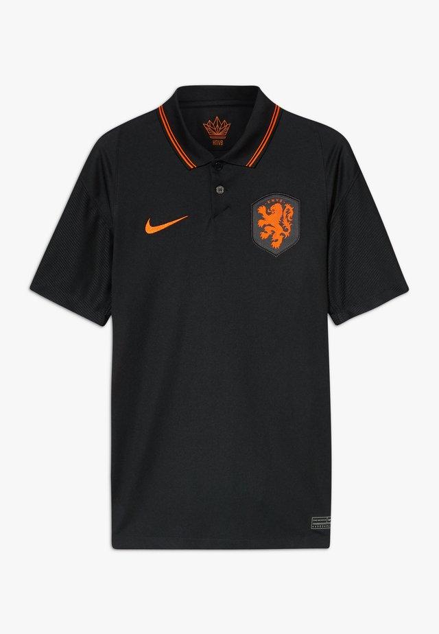 NIEDERLANDE KNVB Y NK BRT STAD SS AW - Voetbalshirt - Land - black/safety orange