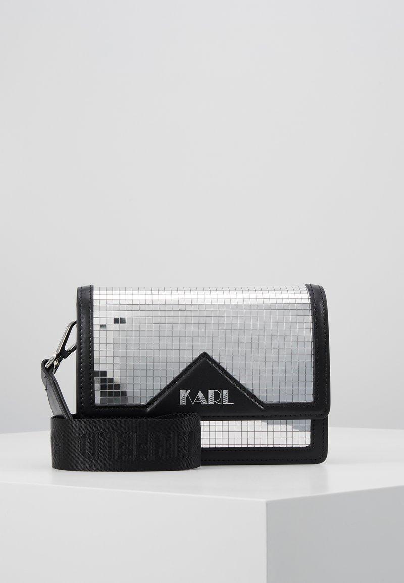 KARL LAGERFELD - DISCO SHOULDER BAG - Taška spříčným popruhem - silver