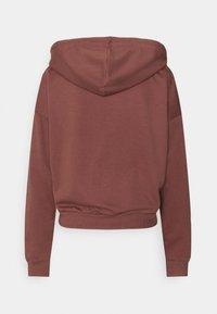 JDY - JDYSUSAN LIFE HOOD ZIP - Zip-up hoodie - rose brown - 1