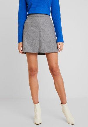 SHORT SKIRT FEMININE CUTLINES - A-line skirt - middle stone melange