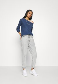 Missguided - OPHELITA OFF SHOULDER JUMPER - Pullover - blue