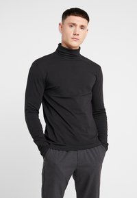 Only & Sons - ONSMICHAN SLIM ROLLNECK TEE - Top s dlouhým rukávem - black - 0