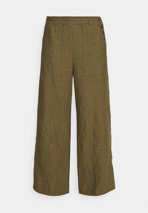 Trousers - basic olive