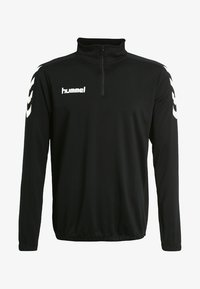 Hummel - CORE ZIP - Langærmede T-shirts - black - 3