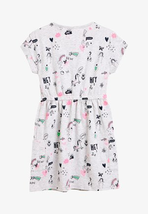 UNICORN SHORT SLEEVE PRINTED DRESS (3-16YRS) - Day dress - grey
