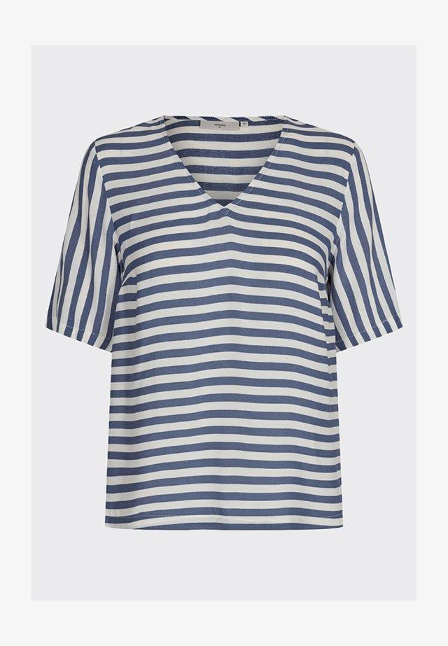 Print T-shirt - china blue