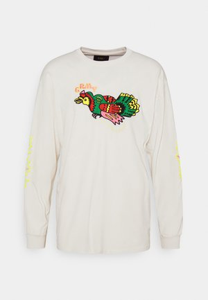 LIVEUTION LONG SLEEVE TEE UNISEX - Long sleeved top - white