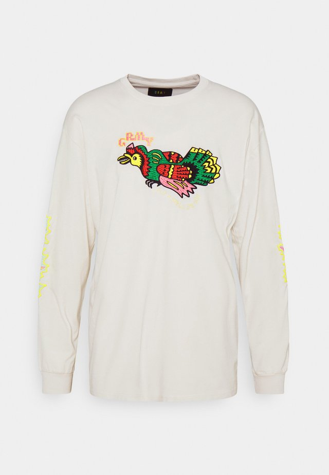 LIVEUTION LONG SLEEVE TEE UNISEX - Longsleeve - white