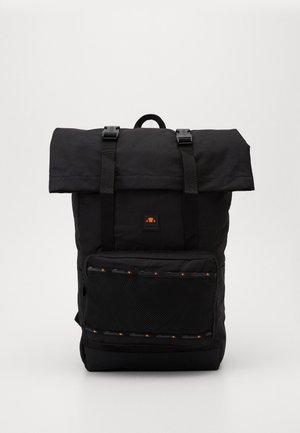 SAUL ROLL TOP BACKPACK - Tagesrucksack - black