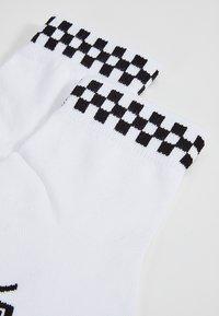 Vans - WM PEEK-A-CHECK C - Socks - white-black - 2
