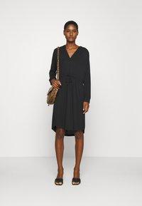 Selected Femme - SLFMIE DAMINA DRESS - Jersey dress - black - 1