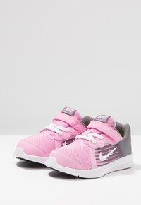 Nike Performance - DOWNSHIFTER 8 - Sports shoes - pink rise/white/gunsmoke/black - 3