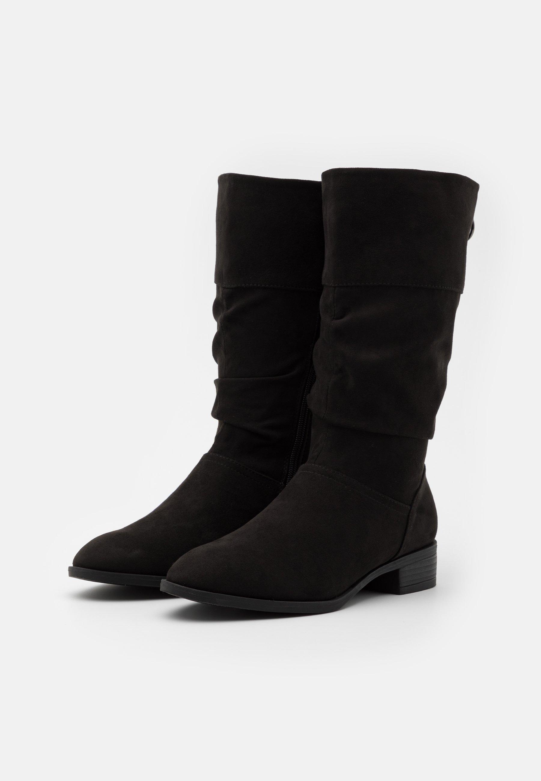 Simply Be WIDE FIT ASH Stiefel black/schwarz