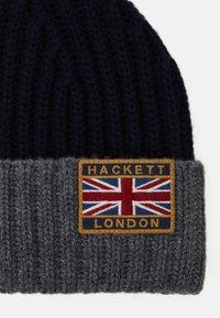 Hackett London - BEANIE - Čepice - navy/grey - 3
