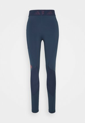 Leggings - navy/red