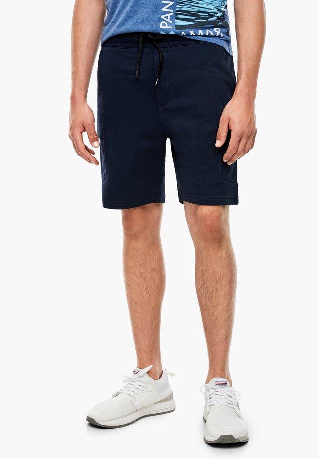 MIT TASCHEN - Shorts - navy