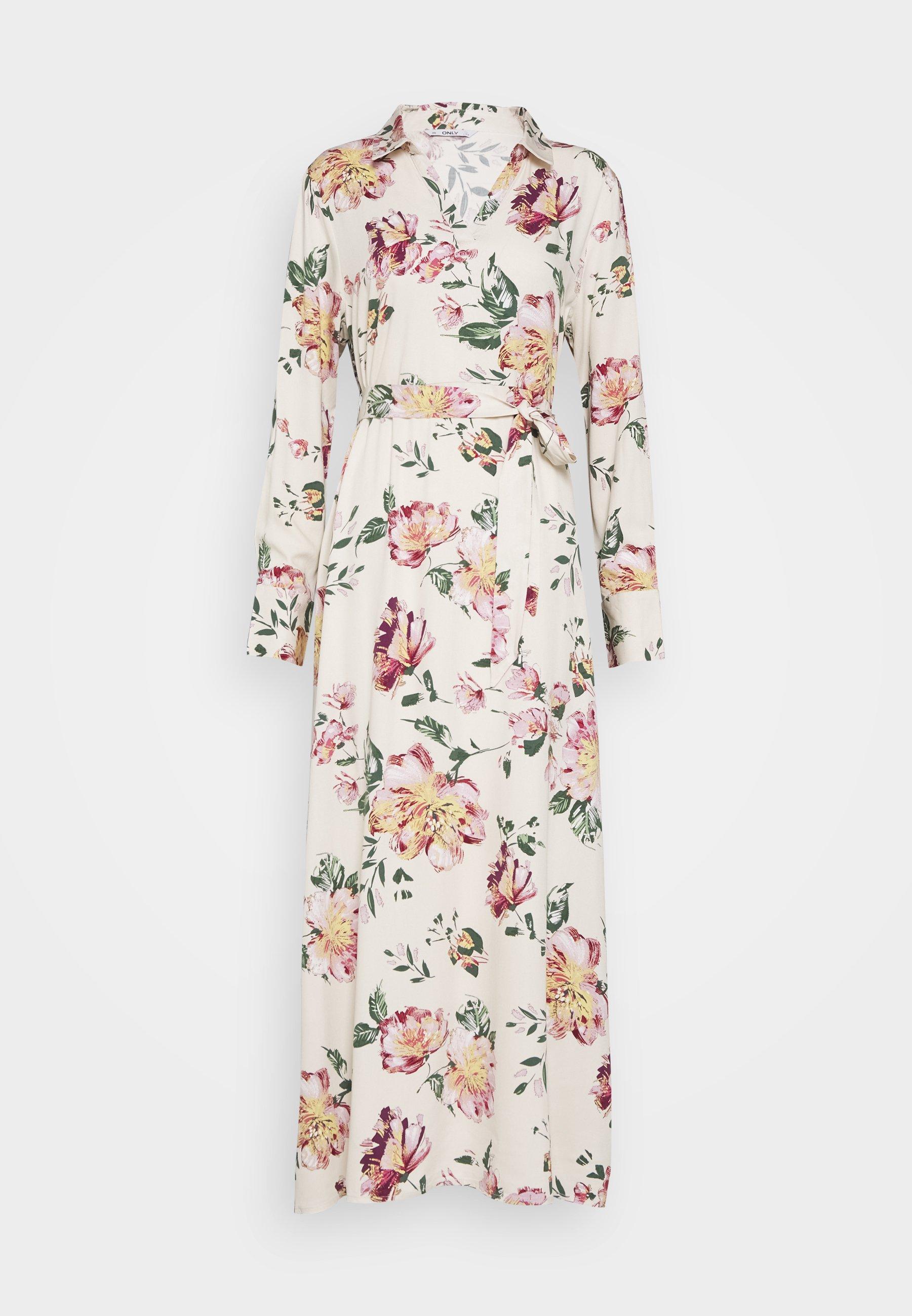 onlalma life dress - freizeitkleid - cloud dancer/jasmin flower