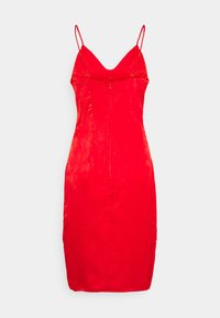 Missguided Petite - TIE BUST MIDAXI DRESS - Cocktailkjole - red - 1