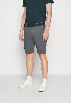 WITH BELT - Shorts - wolf grey