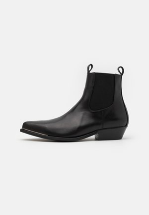 VIRGO - Cowboy/biker ankle boot - black