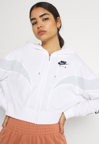 Nike Sportswear - AIR HOODIE - Zip-up sweatshirt - white/pure platinum/black - 3