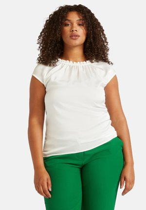 CON ARRICCIATURE - Basic T-shirt - bianco