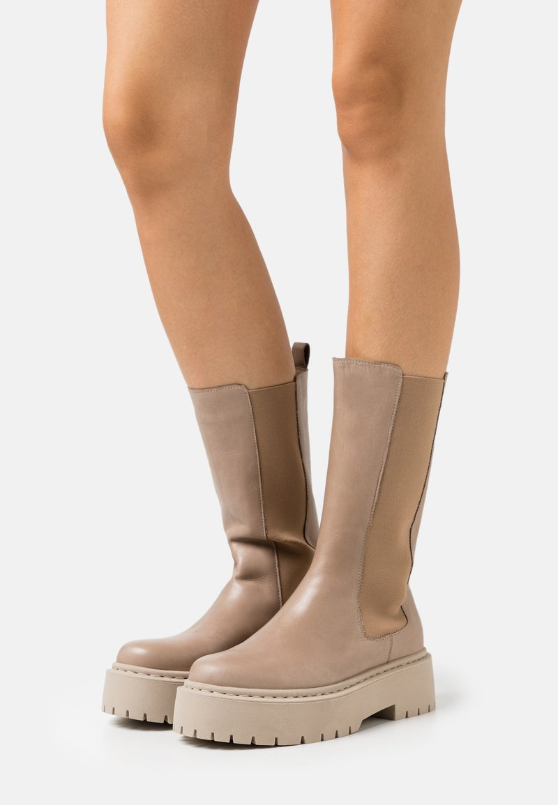 Bianco - BIADEB - Platform boots - light brown
