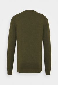 Scotch & Soda - CLASSIC CREWNECK - Stickad tröja - army melange