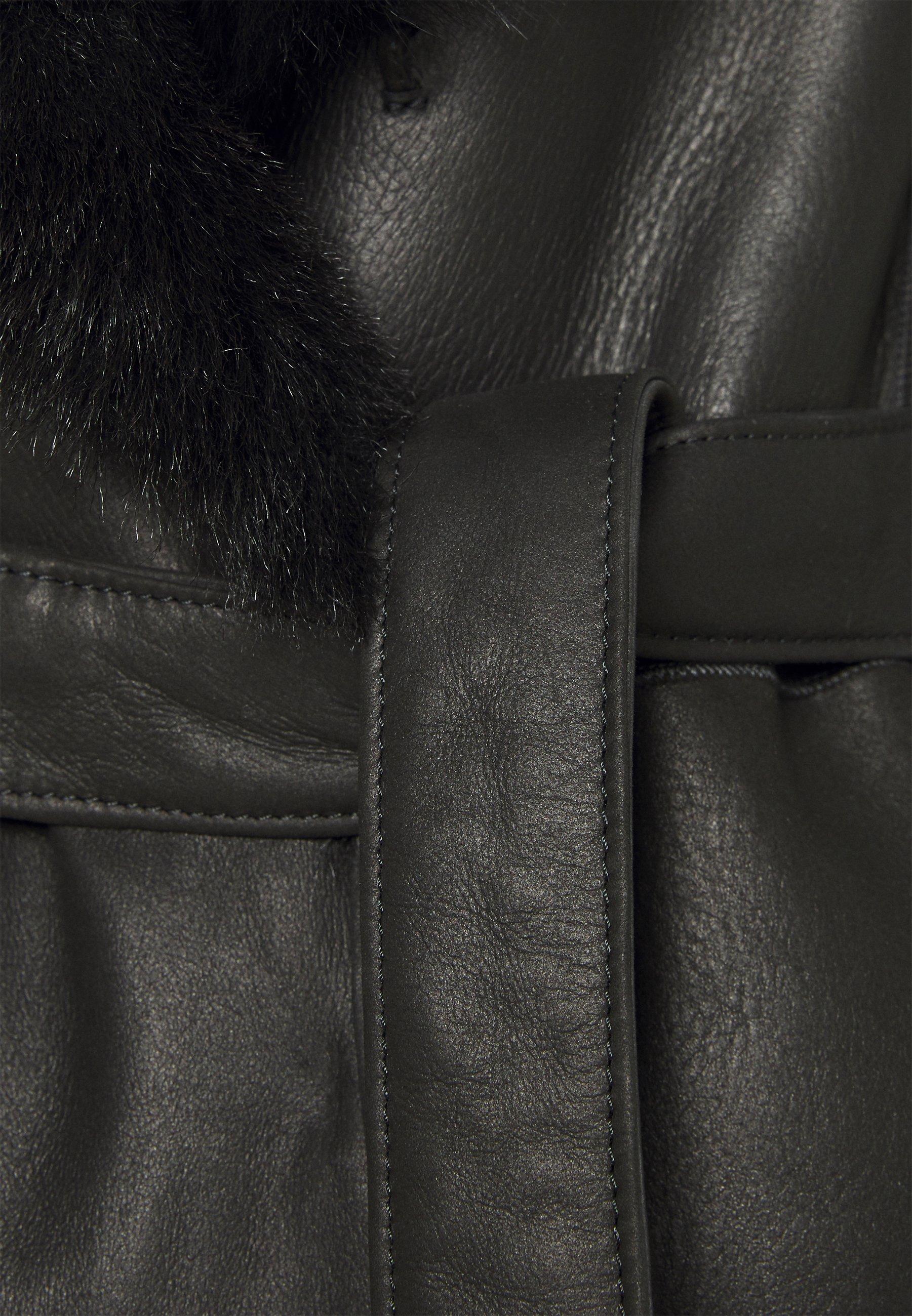 STUDIO ID FLO SHEARLING COAT - Manteau classique - black - Manteaux Femme nfs3v