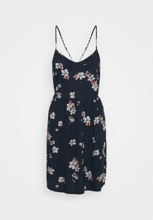 PCBEAUTY STRAP TIE DRESS - Day dress - navy blazer