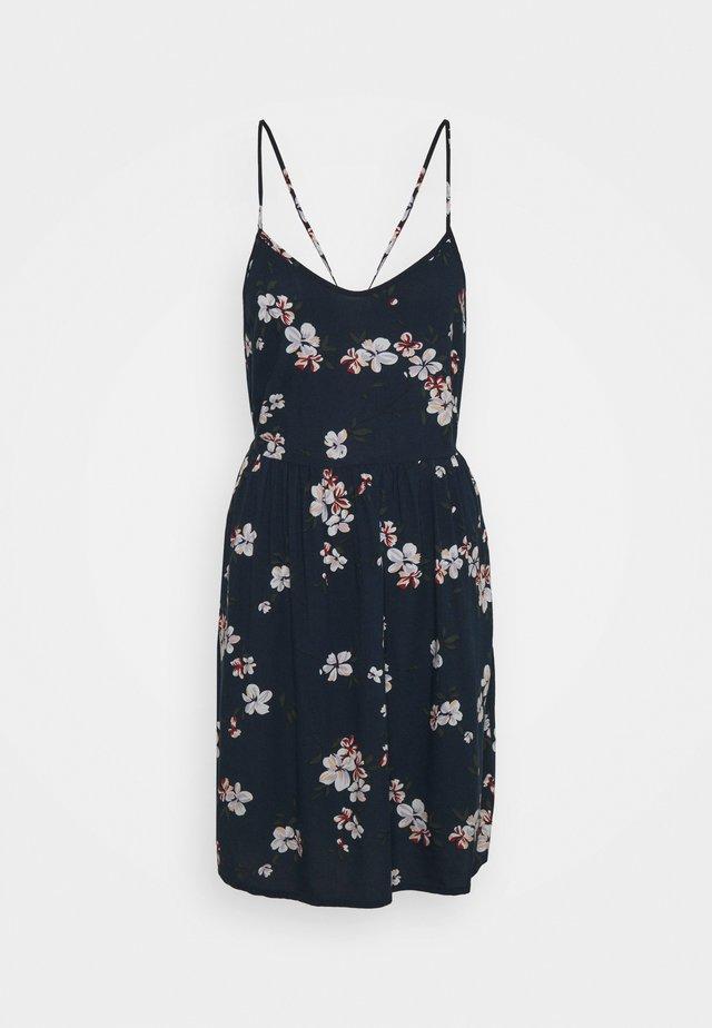 PCBEAUTY STRAP TIE DRESS - Sukienka letnia - navy blazer