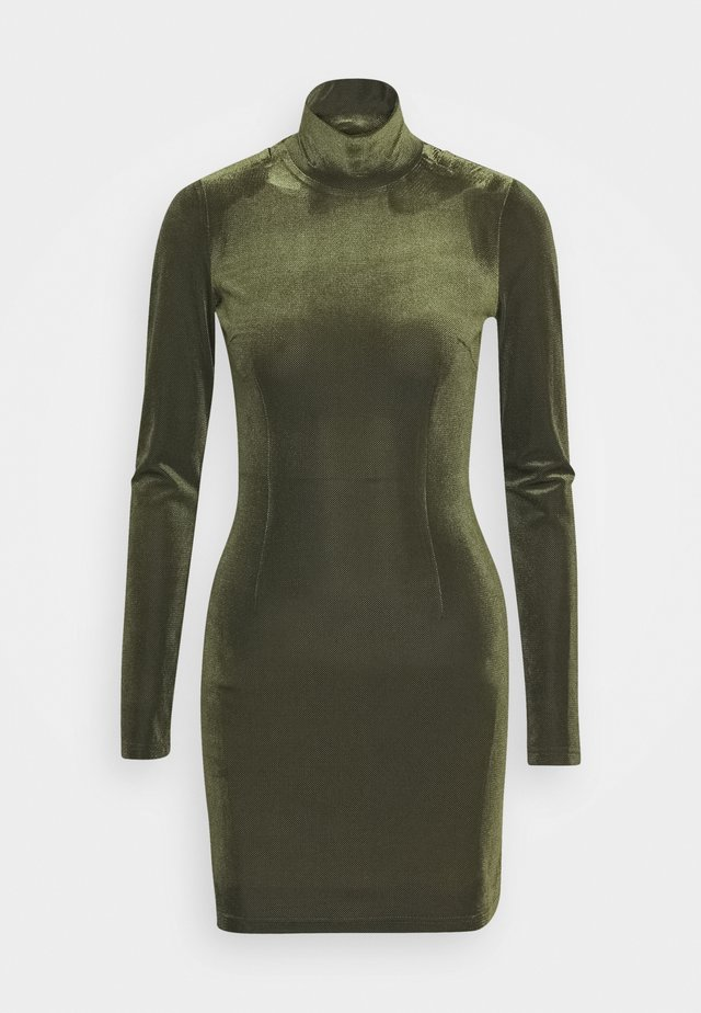 TURTLENECK DRESS - Pouzdrové šaty - dark green