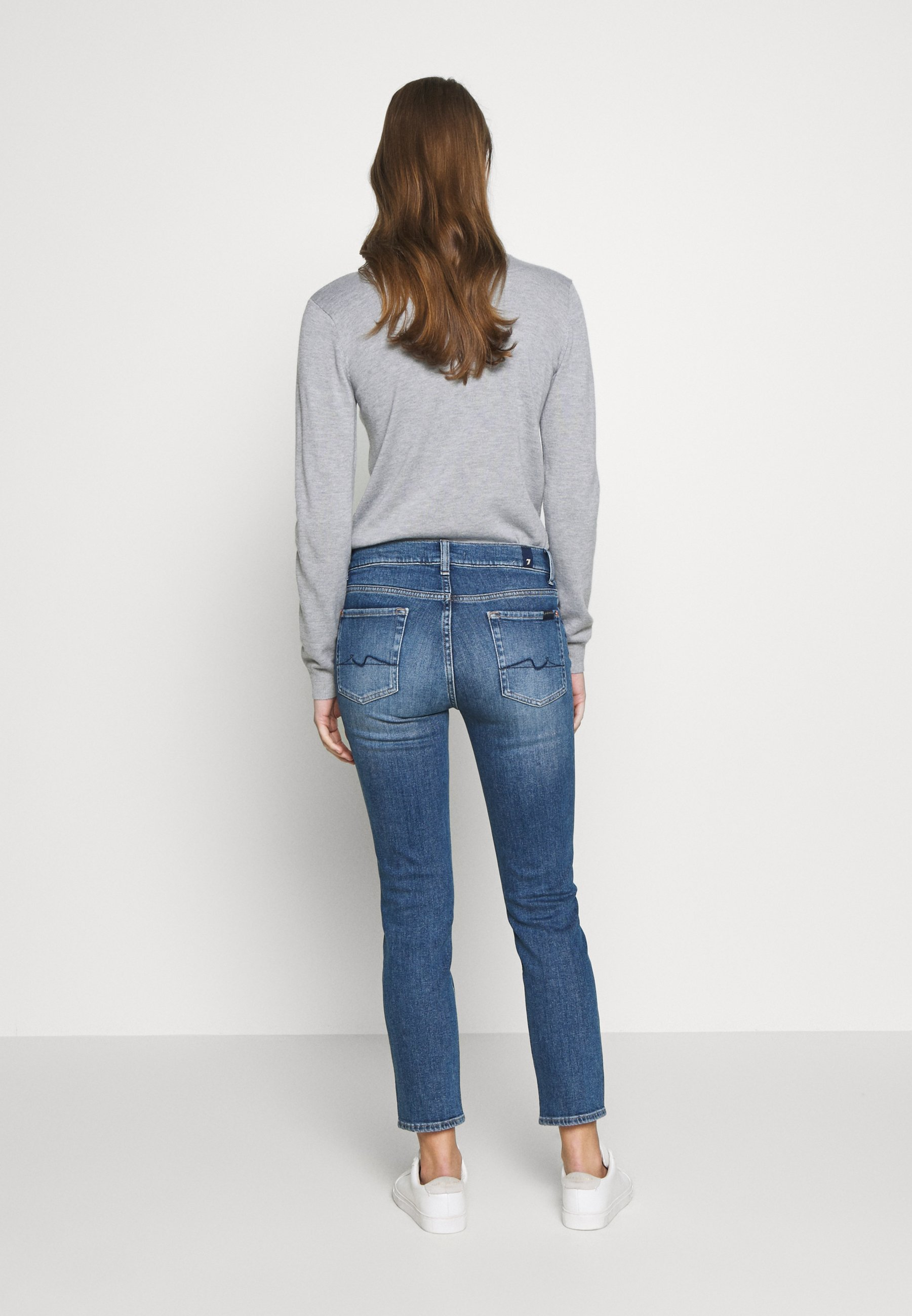 7 for all mankind ROXANNE ANKLE - Jean droit - mid blue - Jeans Femme DqrzN