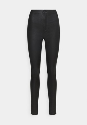 VMJOY COATED PANTS MIX - Pantalon classique - black