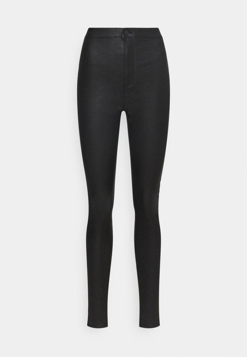 Vero Moda Tall - VMJOY COATED PANTS MIX - Trousers - black