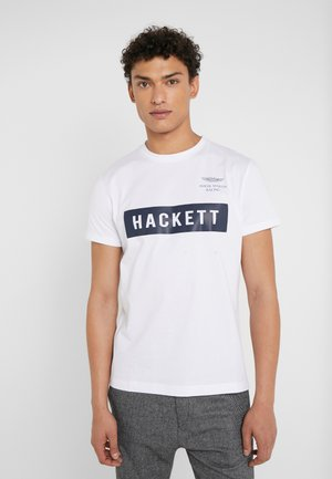 AMR HACKETT TEE - T-shirt z nadrukiem - white