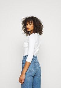 Glamorous Tall - RUCHEL PANEL LONG SLEEVE - Long sleeved top - off-white - 2