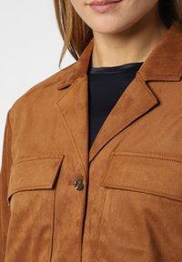 comma - Faux leather jacket - cognac - 2
