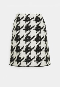 Opus - RAVENNA CONTRAST - Mini skirt - black - 1