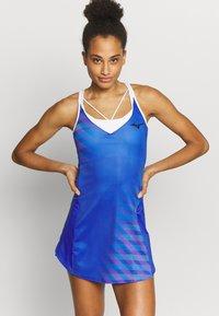 Mizuno - PRINTED DRESS - Jersey dress - dazzling blue - 0