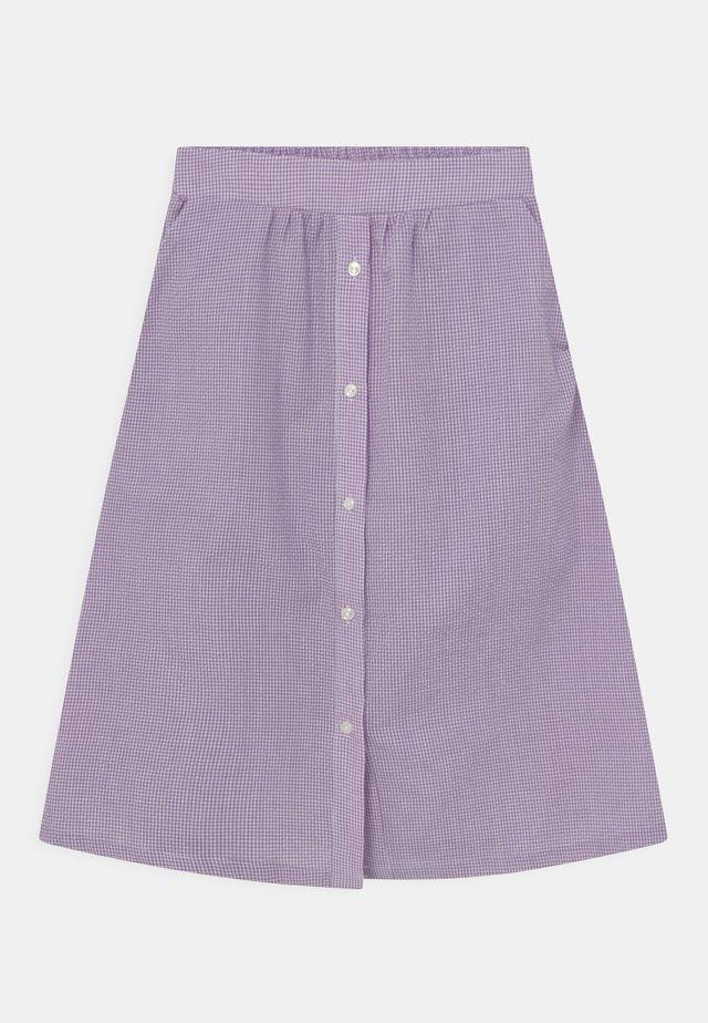 JOAN CHECK - Áčková sukně - light purple