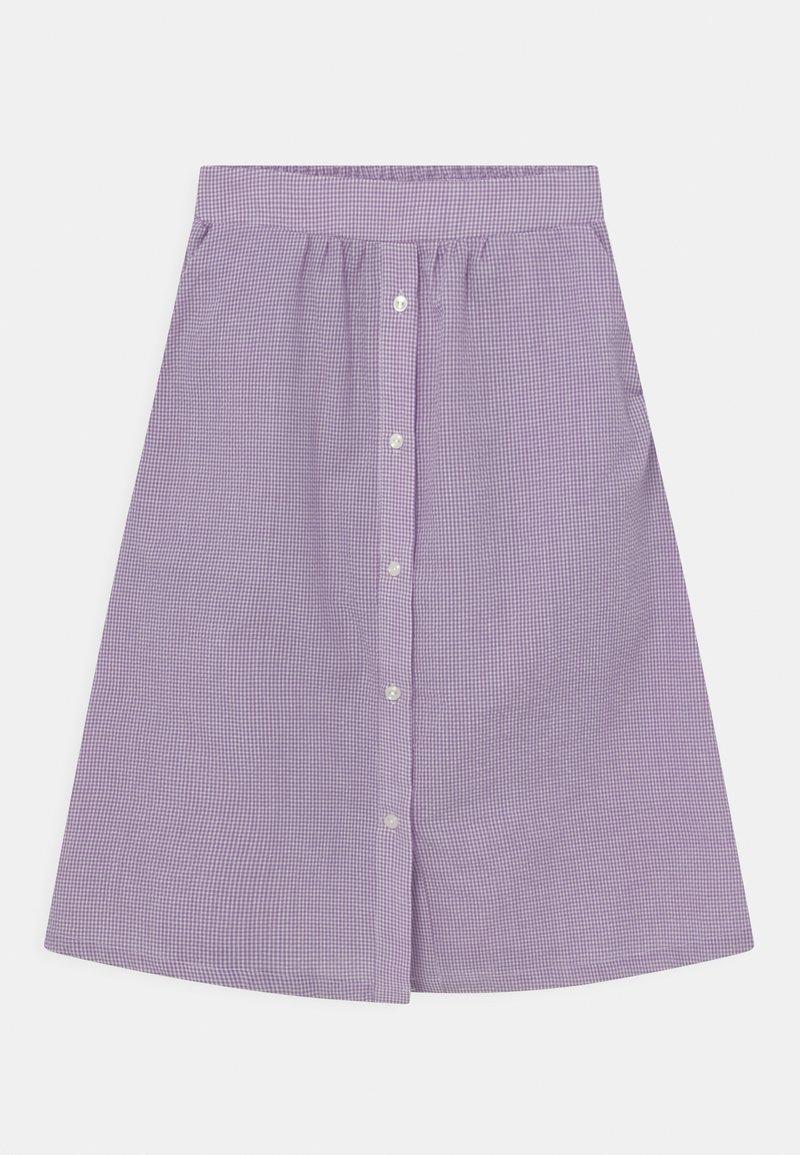 Grunt - JOAN CHECK - A-line skirt - light purple