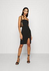 KENDALL + KYLIE - TUBE MINI DRESS - Shift dress - black - 1
