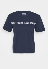 Tommy Jeans - CROP TAPE TEE - T-shirts med print - twilight navy - 5