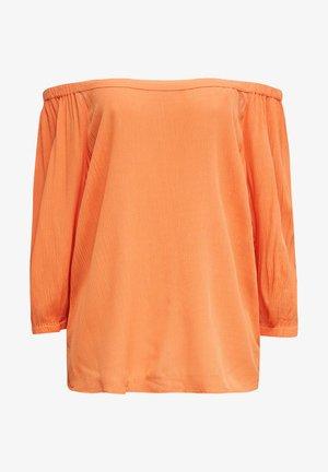 CARMEN-BLUSE MIT LENZING™ ECOVERO™ - Blouse - rust orange