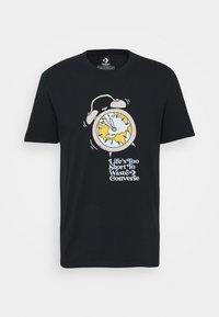 Converse - RENEW TEE UNISEX - Print T-shirt - black - 0