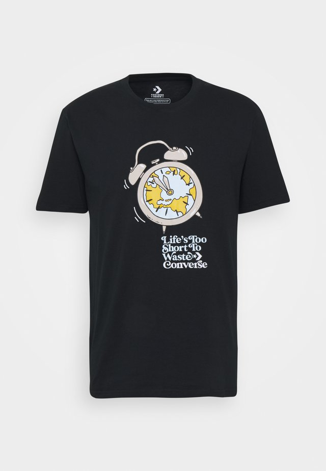 RENEW TEE UNISEX - Print T-shirt - black